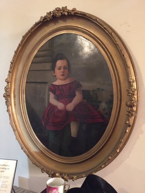 We encountered this strange phenomenon a few times at the house, but once a person died, they were immortalized in a portrait in which their head had aged normally, but they were painted with a youthful, childlike body.