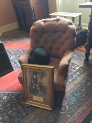 This chair belonged to Sir Arthur Conan Doyle