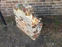 This is a piece of the original wall.