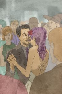 http://thingsfortwwings.tumblr.com/post/36189008829/fanart-remus-lupin-and-nymphadora-tonks-dancing